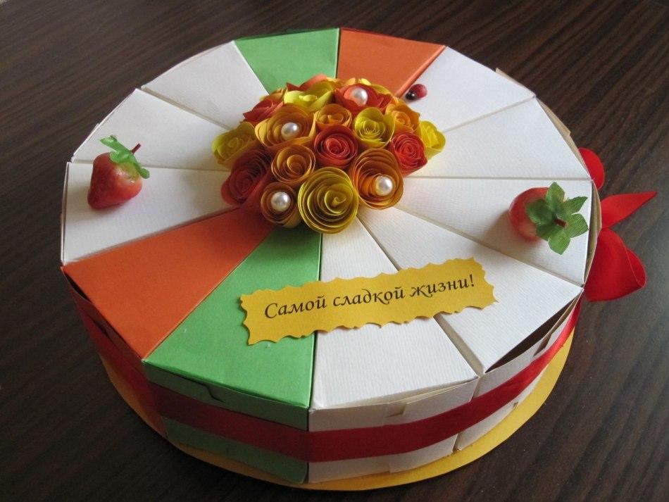 них бумажный торт для поздравлений такой