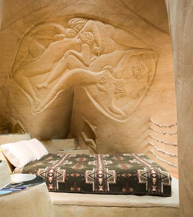 cuevas artificiales de Ra Paulette en Nuevo México.  foto
