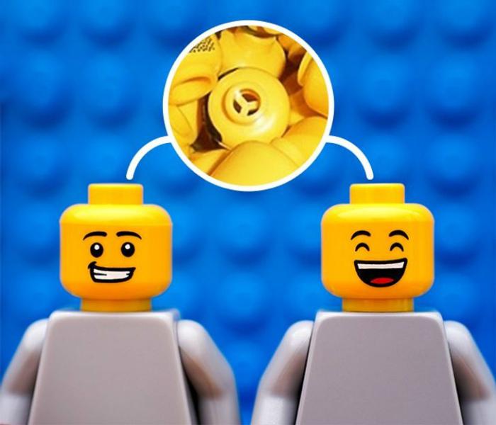 Отверстия в фигурках Lego.   Фото: Sympa-sympa.com.