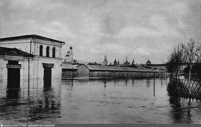 Наводнение 1908 года: Болотная площадь в Москве