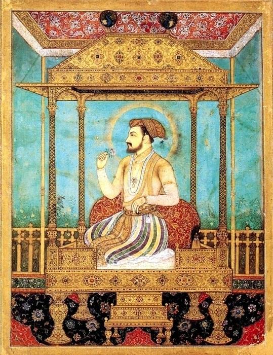 Тронный портрет Шах-Джахана.