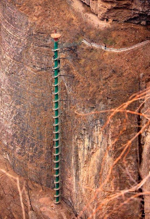 Лестница Taihang. Деревня Го Лян, Китай.