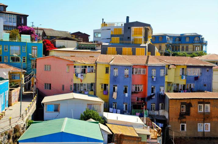 Вальпараисо, Чили Сказочно, города, красиво, места, мир, пейзаж, планета, фото