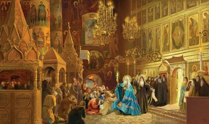 Церковь на Руси принимала людей, молящих о помощи и давала им приют. /Фото: logoslovo.ru