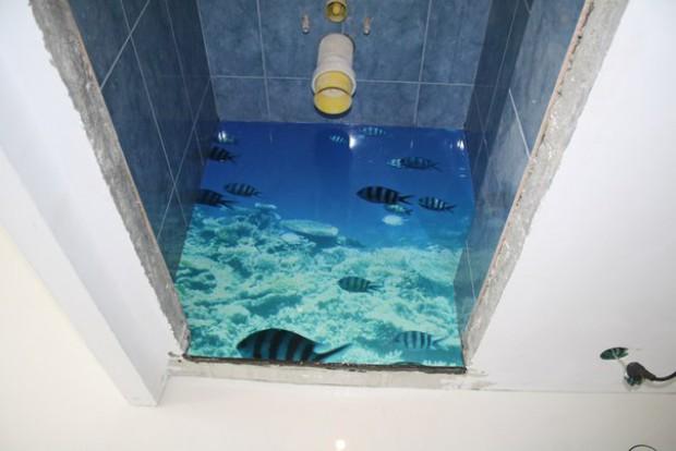 наливной пол — рыбы в океане