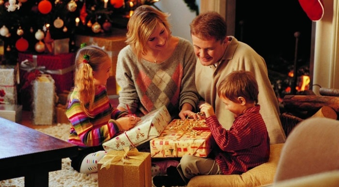 Семейное празднование Нового года