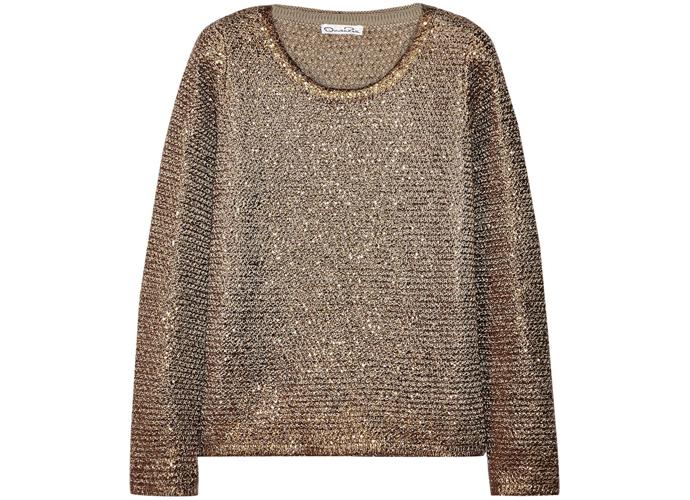 Золотой свитер Oscar de la Renta