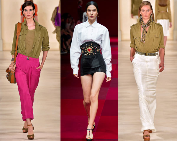 Модные блузки рубашки весна-лето-2015