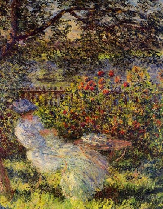 Алиса Гошеде в саду. К. Моне, 1881 год.   Фото: viktoriyamasalab.ru.