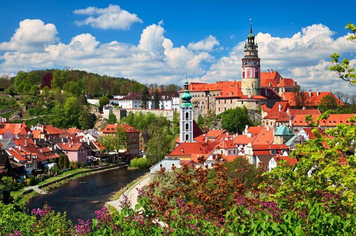 Крумлов, Чехия Сказочно, города, красиво, места, мир, пейзаж, планета, фото