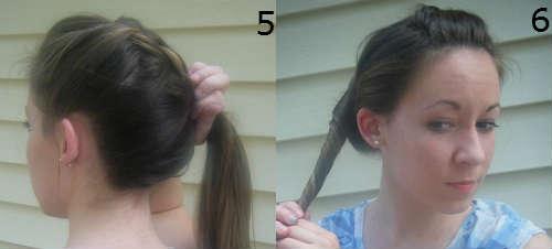 Пучки на средние волосы на основе косичек