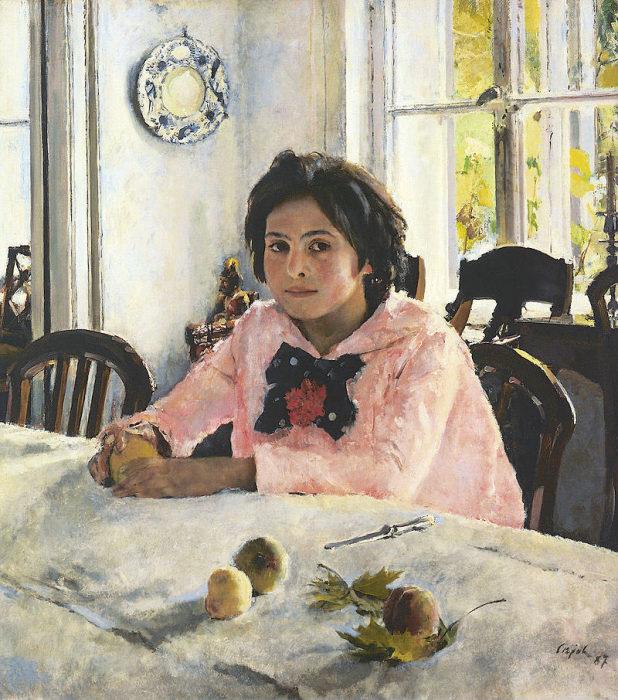 «Девочка с персиками» была написана в усадьбе купца Мамонтова. /Худ. В.Серов