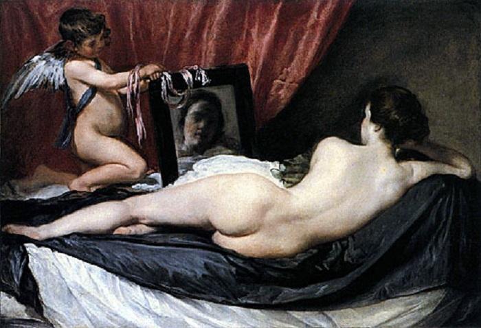 Венера с зеркалом. Автор: Диего Веласкес.