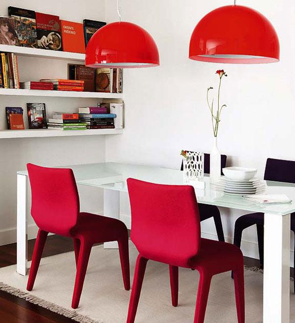Стеклянный обеденный стол гостиная