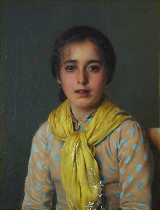 Девушка в жёлтой шали. Витторио Маттео Коркос