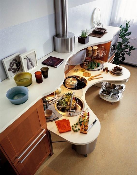 Необычная дизайнерская кухня