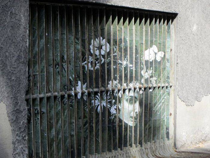 Иллюзия на заборах (17 фото)