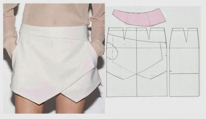 Сшить самой юбку шорты