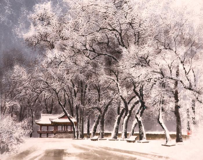 로유담_17_련광정의 겨울 - Павильон Рёнкванджон зимой. 2007 (700x554, 580Kb)