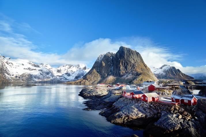 Рейне, Норвегия Сказочно, города, красиво, места, мир, пейзаж, планета, фото