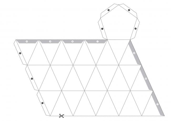 Шаблон №3 для создания геометрической свечи