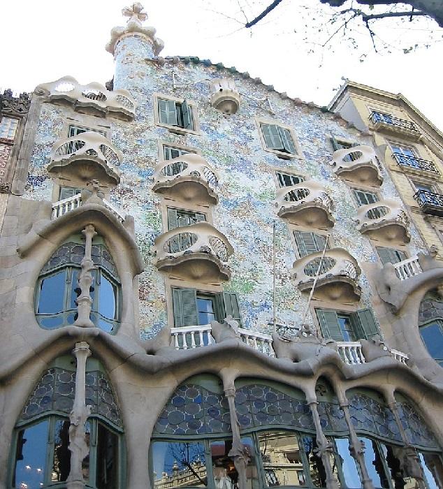 Casa Batll (дом Бальо). Архитектор: Антонио Гауди.