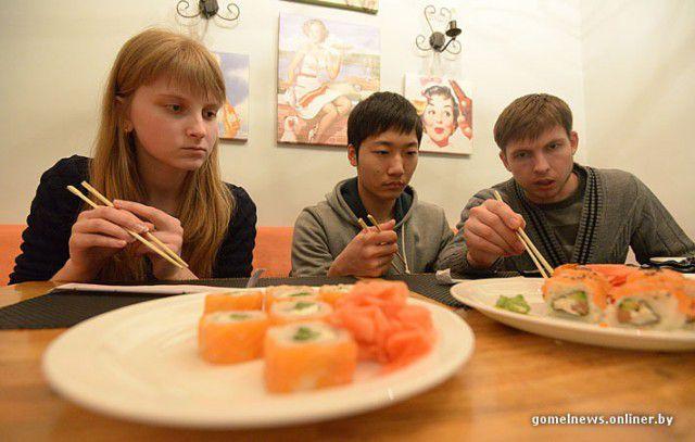 суши, эксперимент