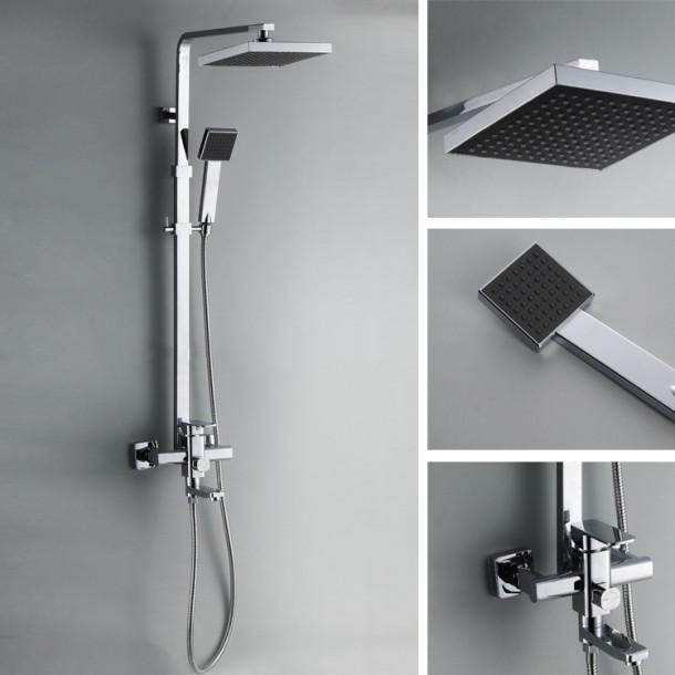 Contemporary-Chrome-Finish-Square-Bathroom-font-b-Shower-b-font-Column-font-b-Units-b-font