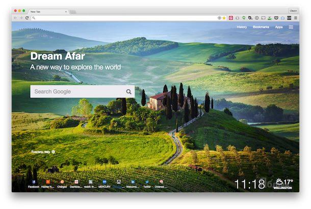 Dream Afar New Tab Расширения для Google Chrome