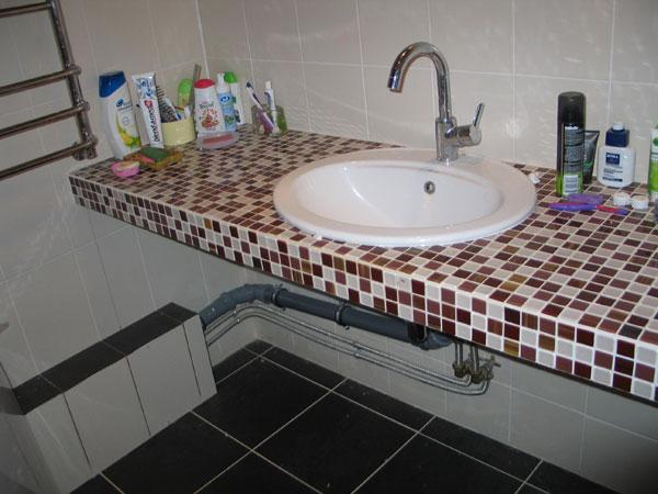 Столешница в ванную комнату своими руками фото