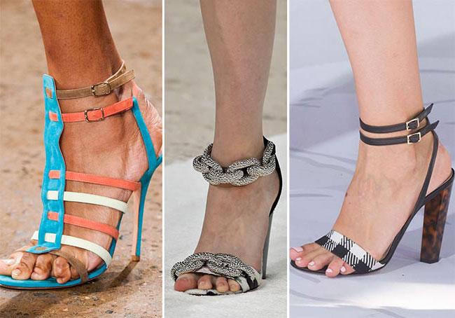 Обувь с застежкой на щиколотке - тенденции весна-лето 2015