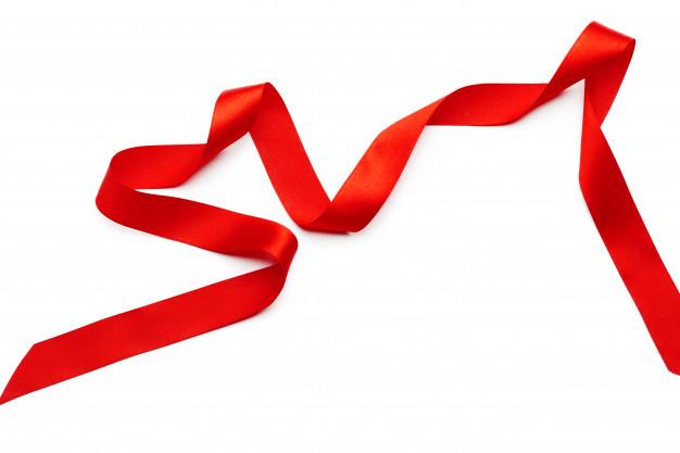 Красная лента | Премиум Фото