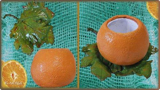 Сочный вазон Апельсин из бетона своими руками