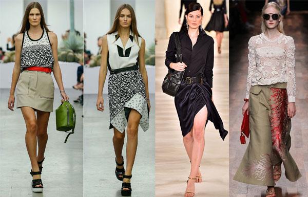 асимметричные юбки весна-лето 2015