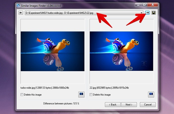 Интерфейс программы Similar Images Finder