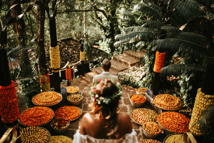 Свадьба с индийским колоритом на Гоа.