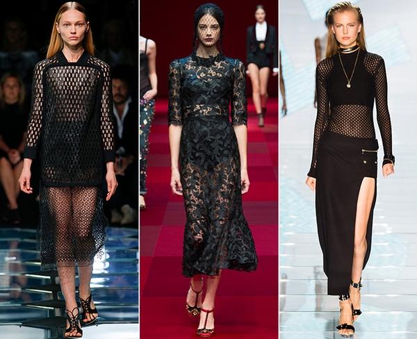 Черный цвет достойно конкурирует с другими тенденциями моды весна-лето 2015