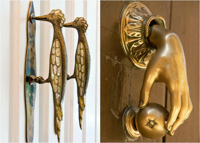 Оригинальные  ручки  входных  дверей.