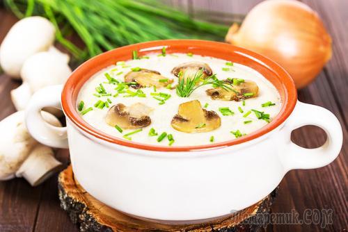 Шампиньонов из крем Диетический суп why the