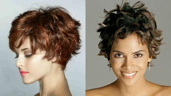 Пышные стрижки для вьющихся волос на короткие волосы