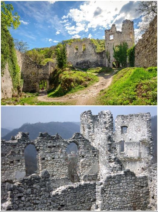Все, что осталось на месте величественного замка-дворца в Самоборе (Хорватия). | Фото: tripadvisor.ru/ ru.wikipedia.org.