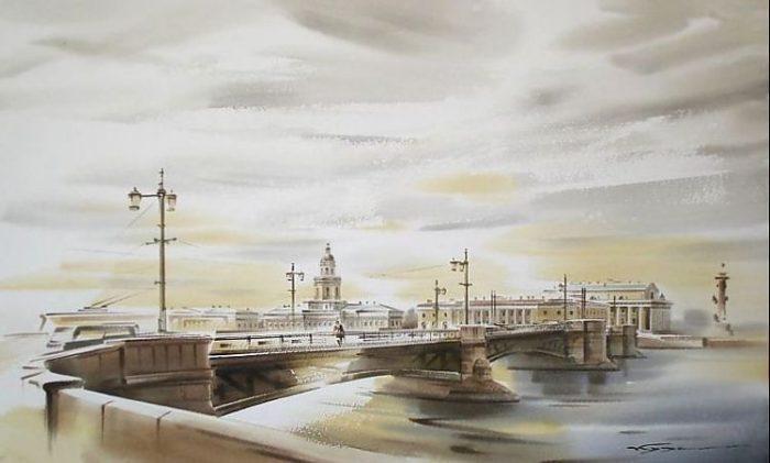 художник Константин Кузема акварель картины - 25