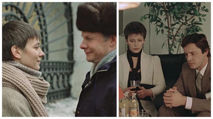 На ком бы ни остановился выбор, причёска у героини «Зимней вишни» оставалась неизменной.