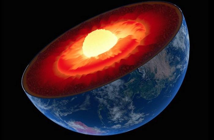 Маленькое ядро большой планеты.