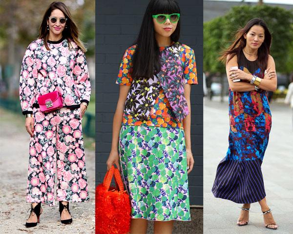 Уличная мода весна-лето 2015:  Цветочный принт