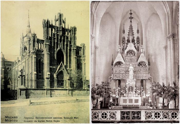 Кафедральный собор Девы Марии на Малой Грузинской был построен в 1901-1911 гг. (Москва). | Фото: lifejourney.club/ drygoi-smolensk.ru.