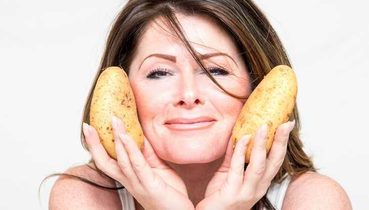 Каждый день я протираю кожу лица ломтиком сырого картофеля. Что мне это  дает? - Мой город