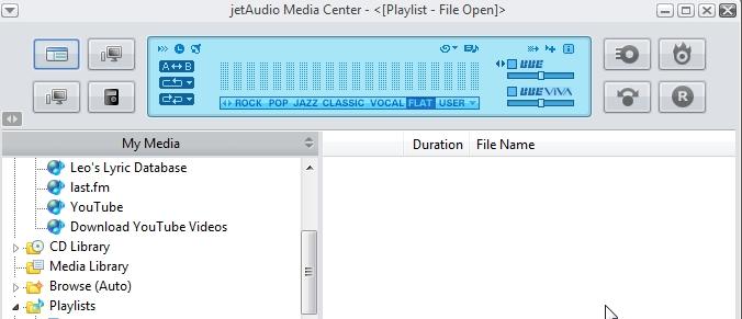 Интерфейс jetAudio Media Center
