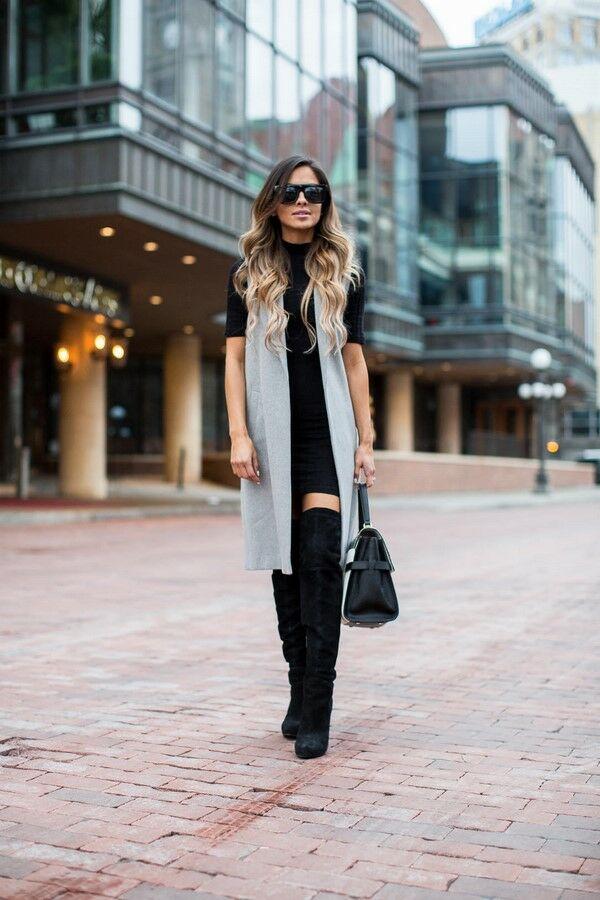 74568881311 Сдержанность и завершенность образов на весну привнесет верхняя одежда в  виде жилета. Это могут быть и весенние варианты пальто без рукавов