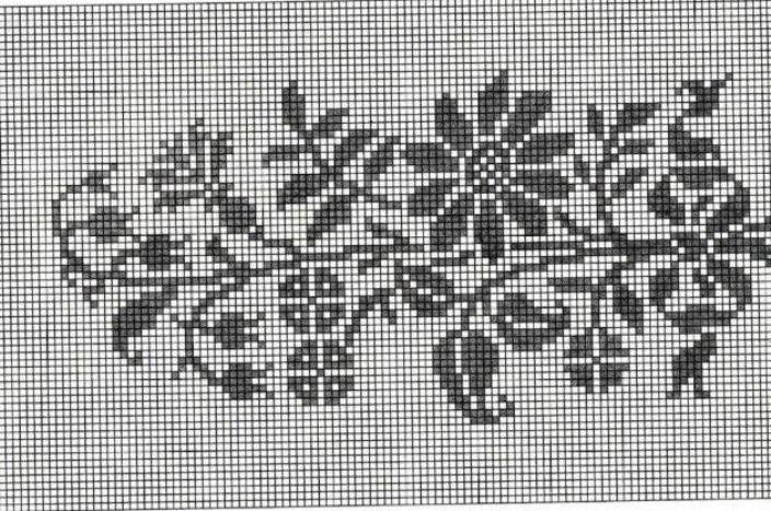 Узоры для филейного вязания крючком